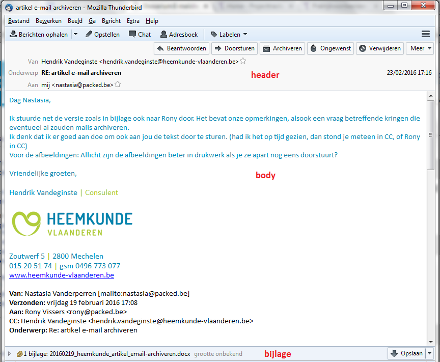 how to know email header detail